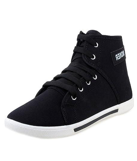 d2c543537e9 Hot-X Boxer Men s Canvas Sneakers Casual Stylish Black Shoes  Buy ...