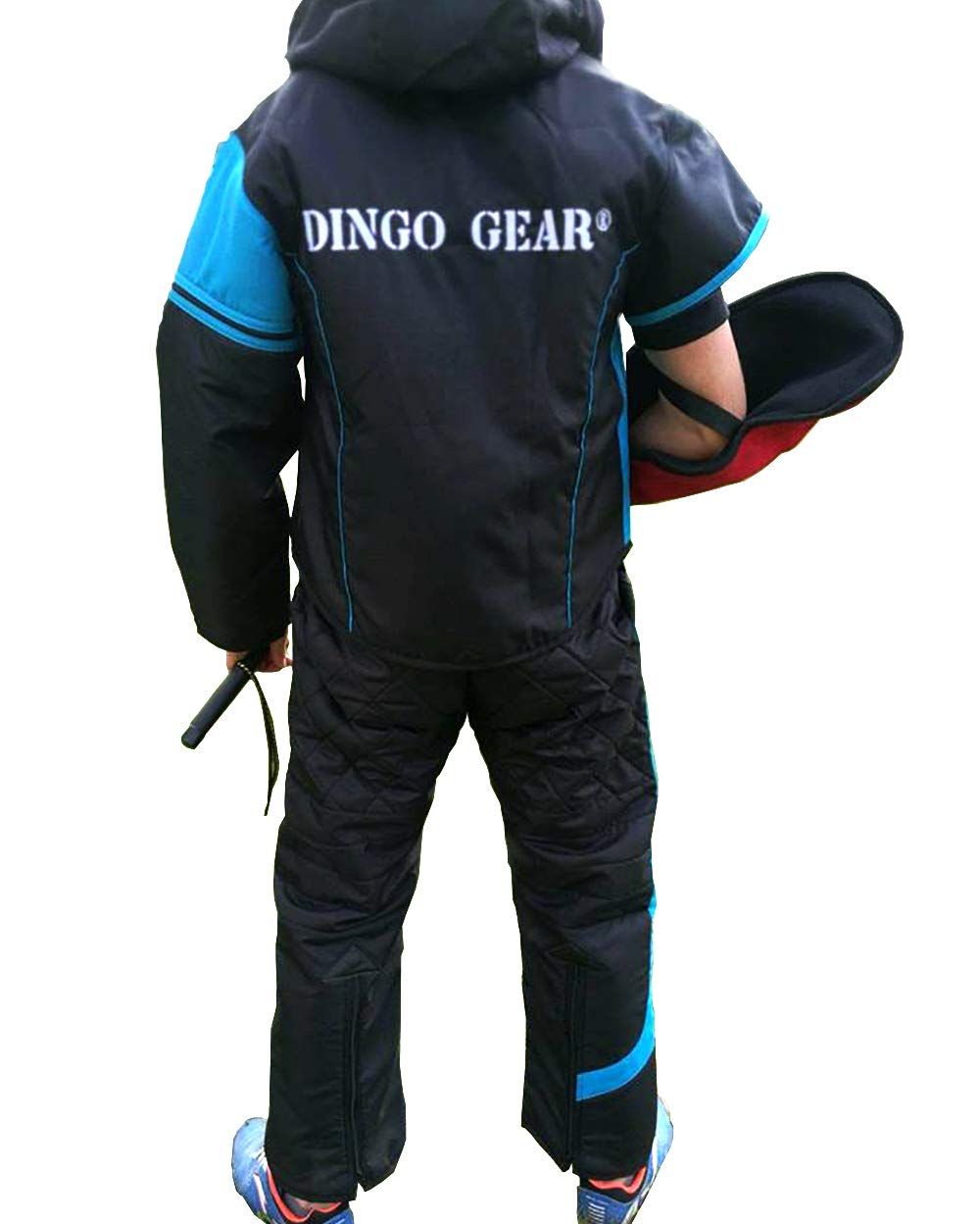 bluee inserts L bluee inserts L Dingo Gear Suit for Decoy or Handler for Training Dog Obedience, IPO and Dog Sports, Light Predection in Dog Training, Handmade, Sporty Design, Excellent Freedom of Movement S01043, L
