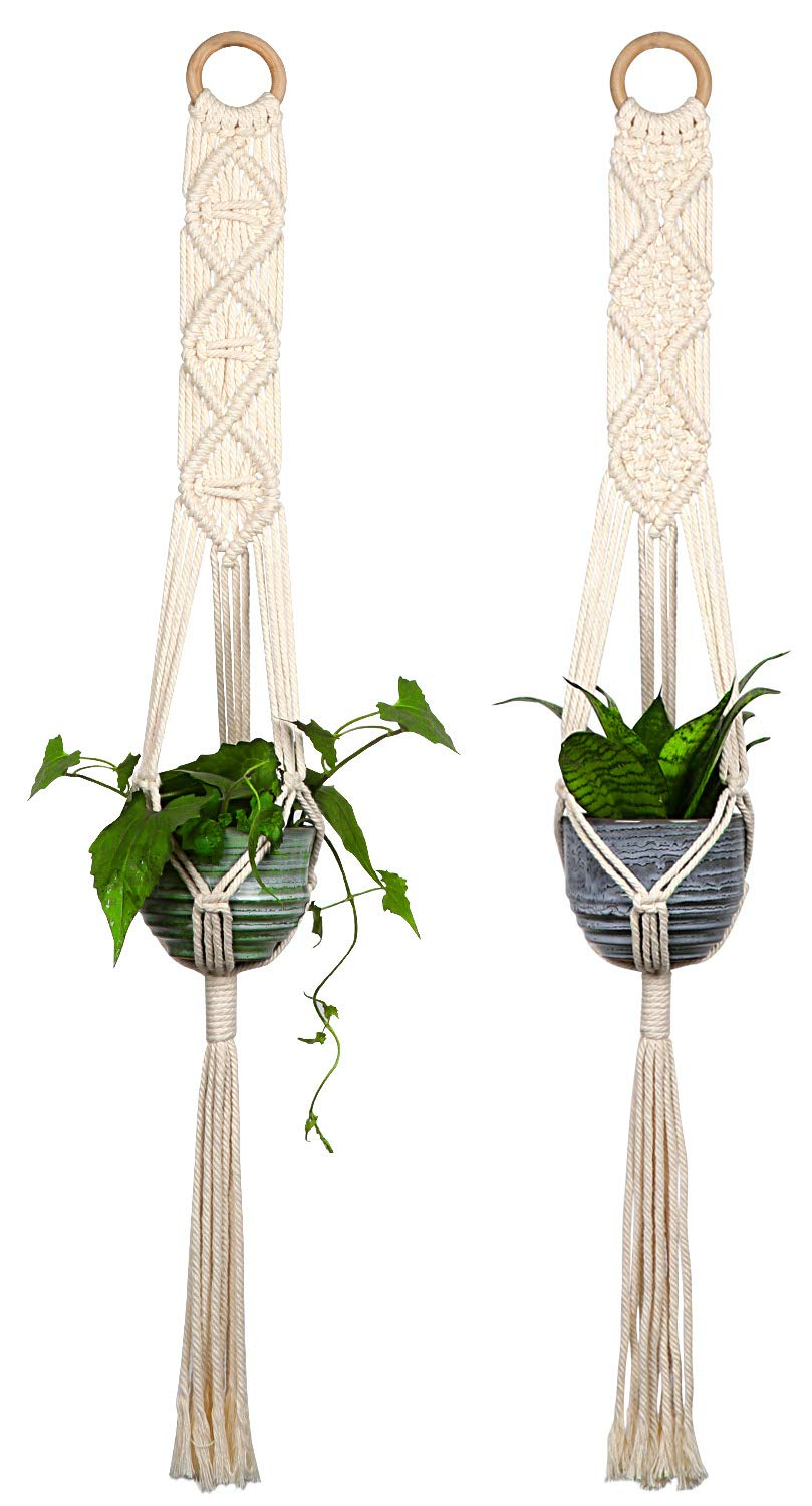 Beautiful macramé plant hangers