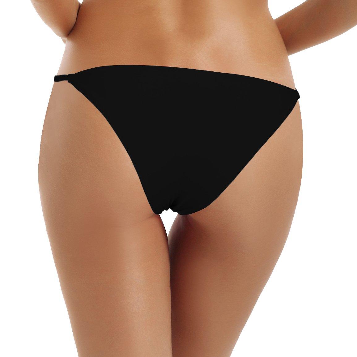 Reteron Women's Sexy String Side Bathing Suit Bottoms 2 Pack (Black DarkRed, XL) by Reteron (Image #2)