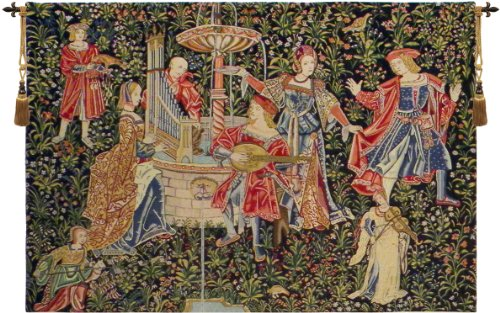 Tapestry, Extra Large, Wide - Elegant, Fine & Wall Hanging - Medieval Concert, A-h47xw69 by Blessinglight USA