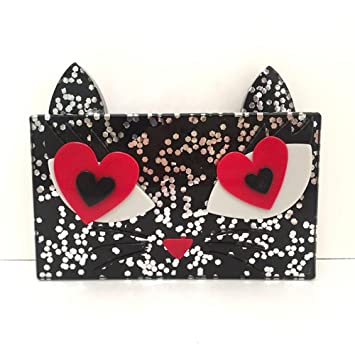 WANGXN Womens Katze Typ Acryl Tasche Holding Tasche Dinner Paket ...