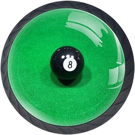 3 tiradores de bolas de billar para gabinete, tocador, tocador, manija de tirador con tornillos, 4 unidades, plástico abs, Multi09, 3.5×2.8CM/1.38×1.10IN: Amazon.es: Hogar