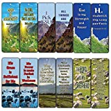 Christian Bookmarks Cards (60-Pack)- KJV Almighty God Inspirational Favorite Bible Verses Quotes- Psalm 23 - Religious Christian Gift - Assorted Prayer Cards - Wall Decor