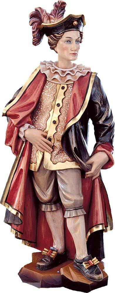 Holzschnitzerei Oswald Amort Lelio   18 cm   Natur - Unbemalt Farbe - mit  arben Bemalt 13 cm