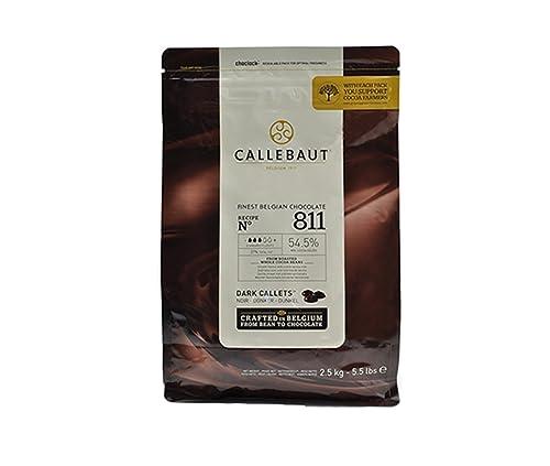Callebaut Chocolate Dark 53.8 Percent Easi-Melt Buttons Callets 2.5 Kg