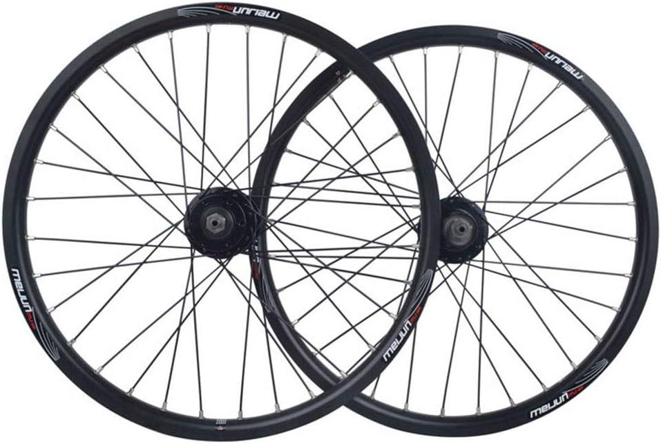 MZPWJD Rueda Bicicleta BMX 20 Pulgadas Juego Ruedas Bicicleta Llanta Aleación Doble Capa Freno Disco Liberación Rápida 7 8 9 10 Velocidad 32H (Color : Black, Size : 20in): Amazon.es: Deportes y aire libre