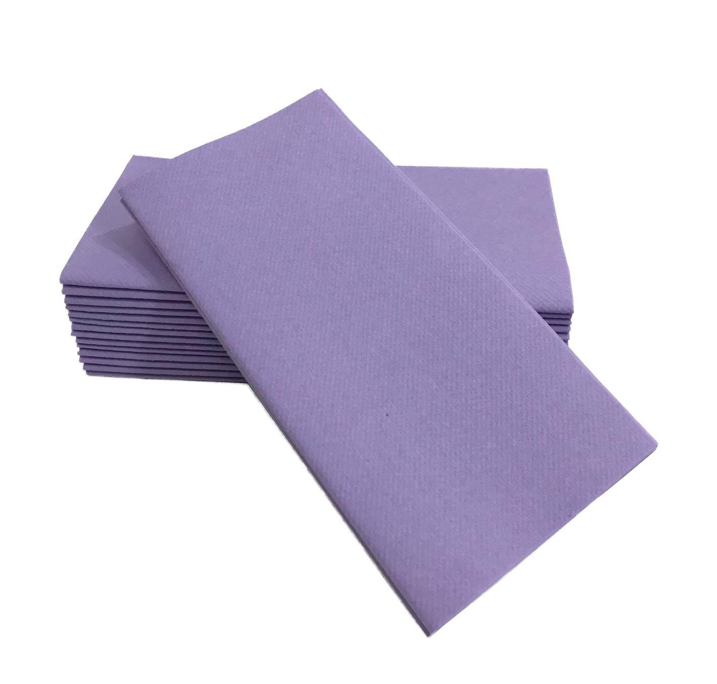 "Elina Home 16""x16"" Decorative Home Disposable Dinner Napkins | Linen Cloth Napkin Like Paper | Cocktail Wedding Party | (Lavender, 100)"