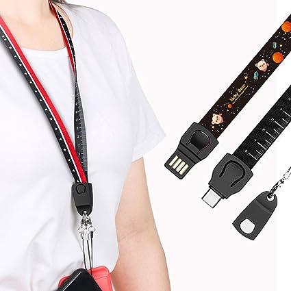 Amazon.com: Efanr - Cable de carga para teléfono móvil, 3 en ...