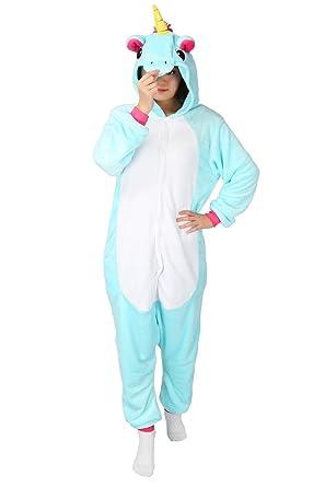 pin tier pyjama einhorn kostum karton tierkostume halloween kostume jumpsuit erwachsene schlafanzug unisex cosplay amazon de spielzeug