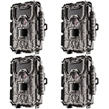 Bushnell 24MP Trophy Cam HD No Glow Trail Camera with Color Viewer, Camo (4-Pack)