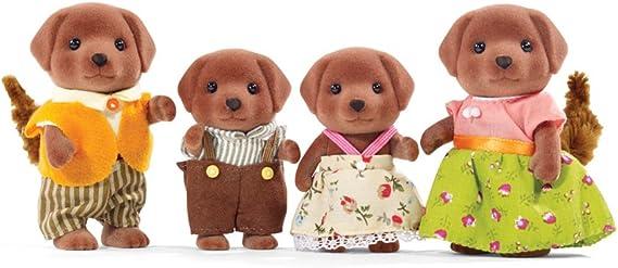 Calico Critters CC1454 Chocolate Labrador Family Doll Set