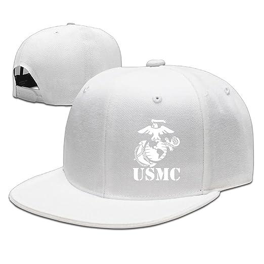 eea75549b17c Amazon.com: BDHESR USMC Marine Corps Snapback Hats For Men Cool Hip ...