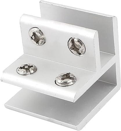 en verre et aluminium r/églable 10/mm-13/mm Charni/ère de porte Sourcingmap/® pour angle droit