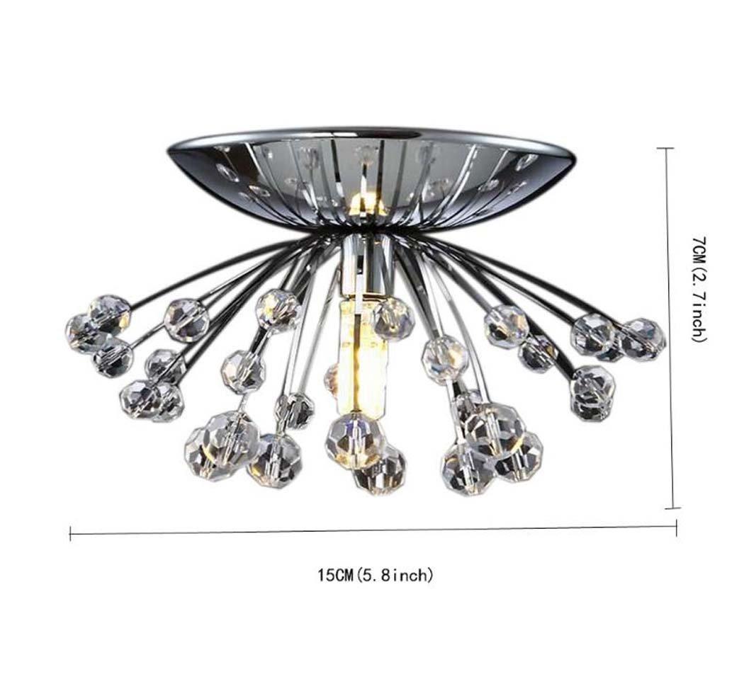 GAOLIQIN LED Pendant Lamp, Mini Luxury Modern Crystal Ceiling Lamp, Living Room Dining Room Hallway Personality Dandelion Chandelier 110V-240V, G9 Without Light Source (Size : 110V)