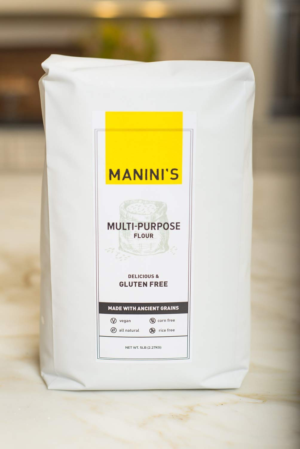 Maninis Gluten Free, Flour Multi Purpose, 80 Ounce by MANINIS Gluten Free