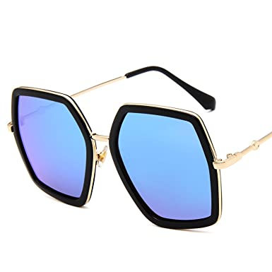 dcb0bfb83589 Image Unavailable. Image not available for. Color  Spinning New polygonal sunglasses  big box sunglasses colorful framed glasses