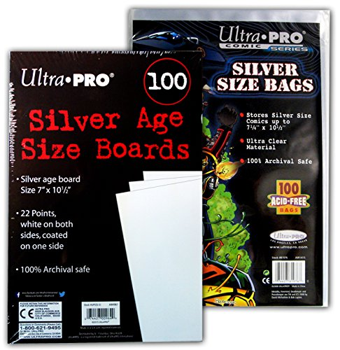 Ultra Pro Comic Bags (Ultra PRO Silver Size Comic Board & Comic Bag Bundle)