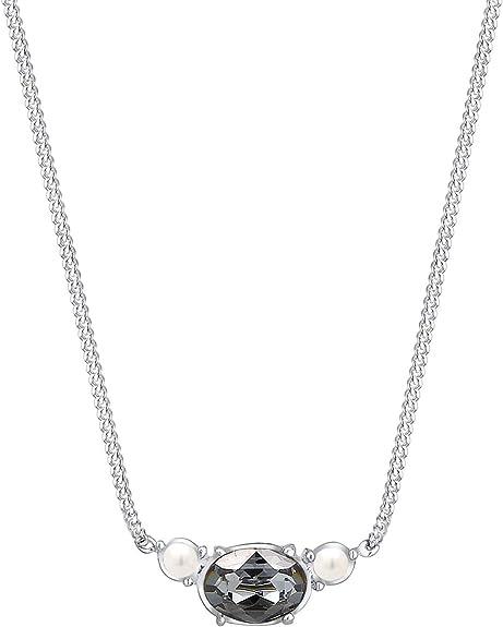 Elli Halskette Damen mit Anhänger Perle und Swarovski