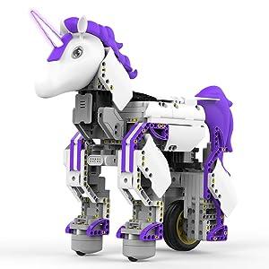 UBTECH Mythical Series: Unicornbot Kit-App-Enabled Building & Coding Stem Learning Kit