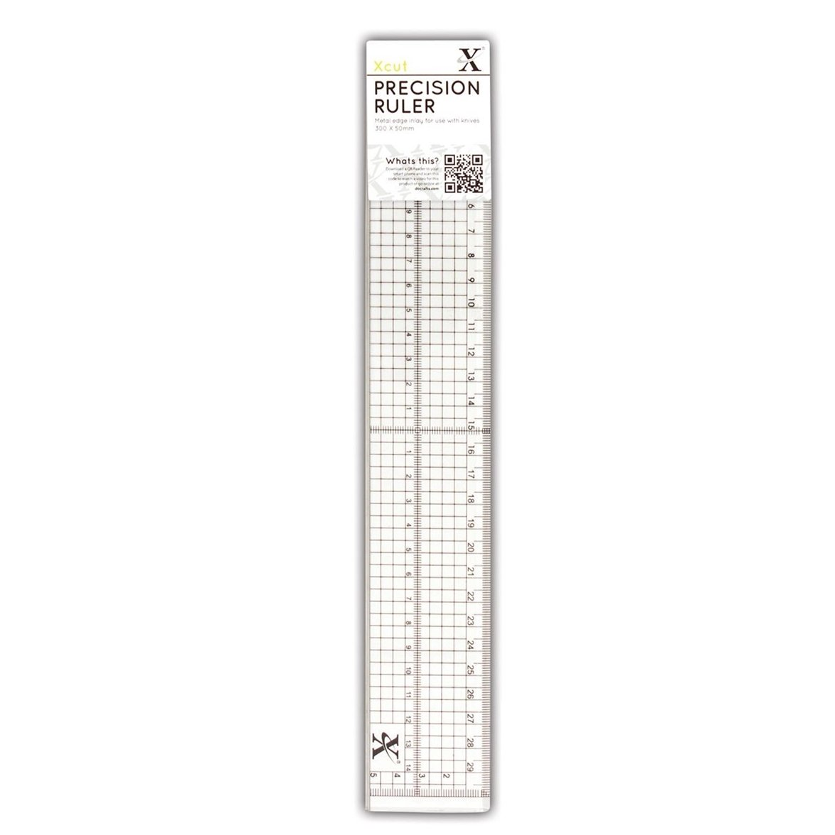 Docrafts 30 cm Precision Ruler with Metal Edge Inlay XCU 255301