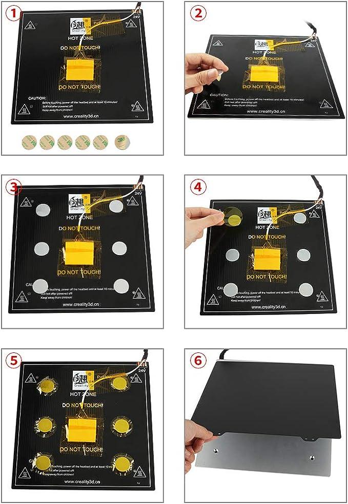 Homyl Cama de Calor de Hoja de Acero de Impresora 3D de 235 Mm + ...