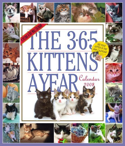 Kittens 2007 Calendar - The 365 Kittens-A-Year Calendar 2008 (Picture-A-Day Wall Calendars) by Workman Publishing (2007-06-30)
