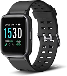 """Letsfit Smart Watch, Fitness Tracker with Heart Rate Monitor, Activity Tracker with 1.3"""" Touch Screen, IP68 Waterproof Smartwatch Compatible with iPhone and Android"""