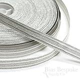 KNOX Pale Silver Double Stripe Military Bullion Braid Trim: 5 Yards