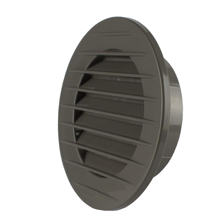 /abluft Grille de ventilation Grille ext/érieure Grille anti-insectes Blanc Gris Marron 60/70/80/90/100/mm MKK/ blanc /17969/
