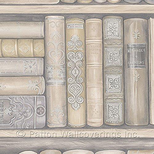 Patton Wallcoverings LL29569 Novelty Bookcase Wallpaper