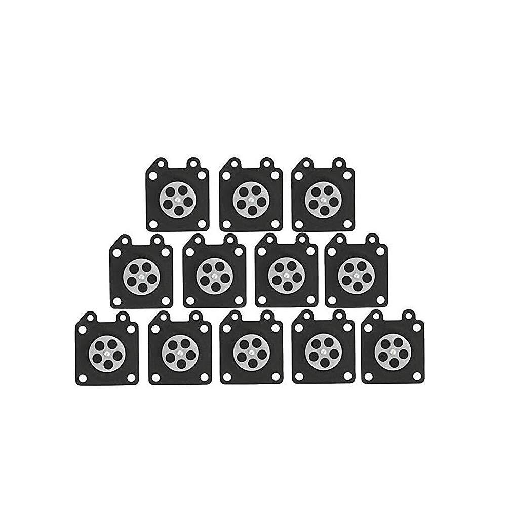 Carburador de diafragma del condensador de ajuste de juntas carburador kit de reparaci/ón de la motosierra 95-526 Jard/ín Accesorios de m/áquinas herramientas 12 piezas