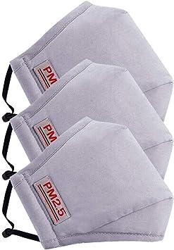 Image ofLazzgirl Reutilizable y Lavable con Carbón Activado Filtro Antipolvo Antivaho Actividades al aire libre Pack 3 unidades