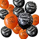 100 Pieces Halloween Balloons 2 Styles Latex Balloons for Party Decoration