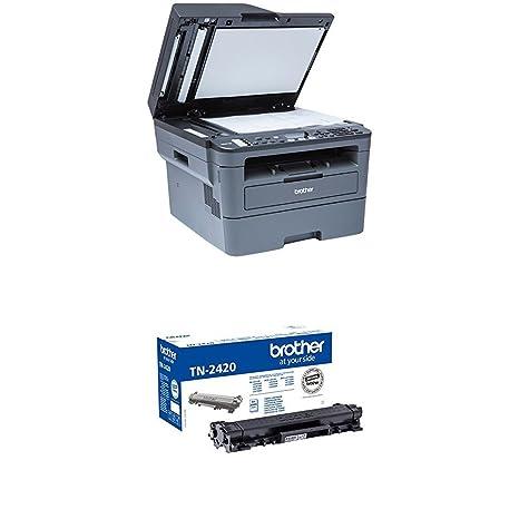 Brother MFCL2710DW - Impresora multifunción láser monocromo con fax e impresión dúplex + Brother TN-2420 Laser cartridge 3000 páginas Negro tóner y ...