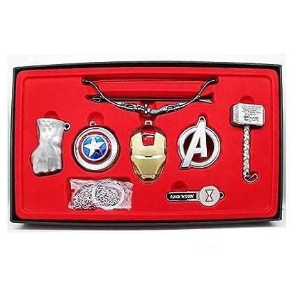 Amazon.com: HotCoser - Llavero de superhéroe de Iron Man ...