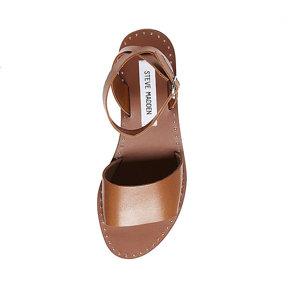 496170e72ae59 Steve Madden Womens Danny Open Toe Studded Flat Sandals Tan 6 Medium (B,  M): Amazon.co.uk: Shoes & Bags