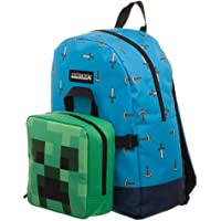 Minecraft Childrens Minecraft Blue Sword Backpack with Detachable Creeper Lunchbox