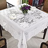 FADFAY White Lace Tablecloth Rustic Country Square Table Cloth 23.5''x23.5''