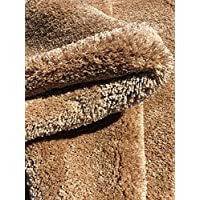 Maxy Home Comfy Luxury Beige 7 ft. 10 in. x 10 ft. 10 in. Premium Shag Area Rug