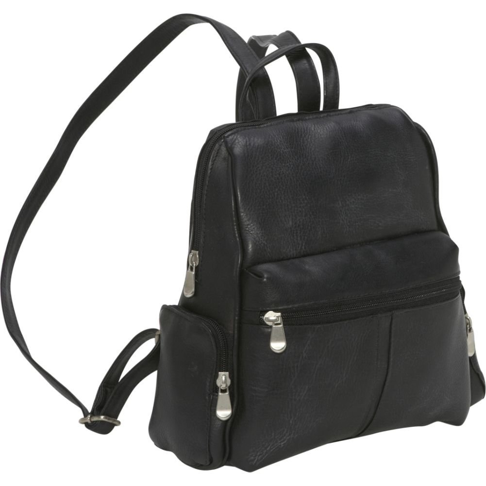 Le Donne Leather Zip Around 4 Pocket Women's Backpack / Purse in Black by Le Donne (Image #1)