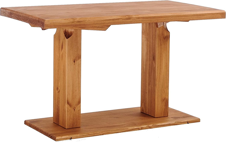 Brasilmöbel Säulentisch Rio UNO 37x37 cm Honig Tisch Esstisch Pinie  Massivholz Esszimmertisch Holz Küchentisch Echtholz Größe und Farbe wählbar