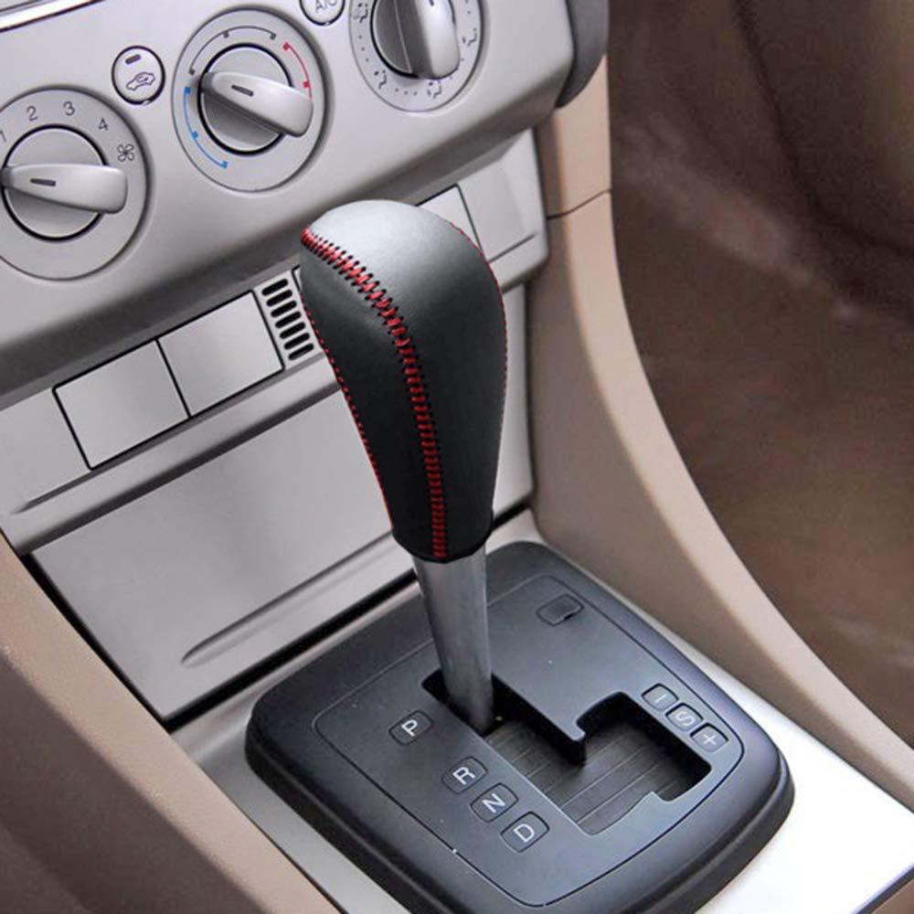 Manuel Pommeaux de Leviers de Vitesse Cuir Couvercle Protecteur pour Focus 09-17 Ecosport 13-17 Escort 15-17 Fiesta 13-17 5 Vitesses Shifter Levier de Voiture Type I