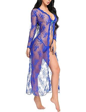 cd92866e681b Lace Kimono Beach Cover Up Transparent Cardigan for Women Long Mesh Summer  Jacket
