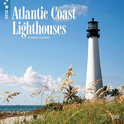 Lighthouses, Atlantic Coast 2018 12 x 12 Inch Monthly Square Wall Calendar, USA United States of America Scenic Nature Ocean Sea East