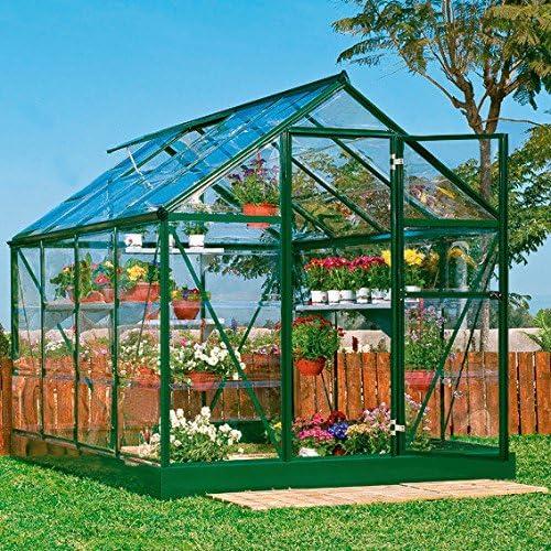 Gärtner Pötschke Green Line - Invernadero con cimientos de acero (6 x 8): Amazon.es: Jardín