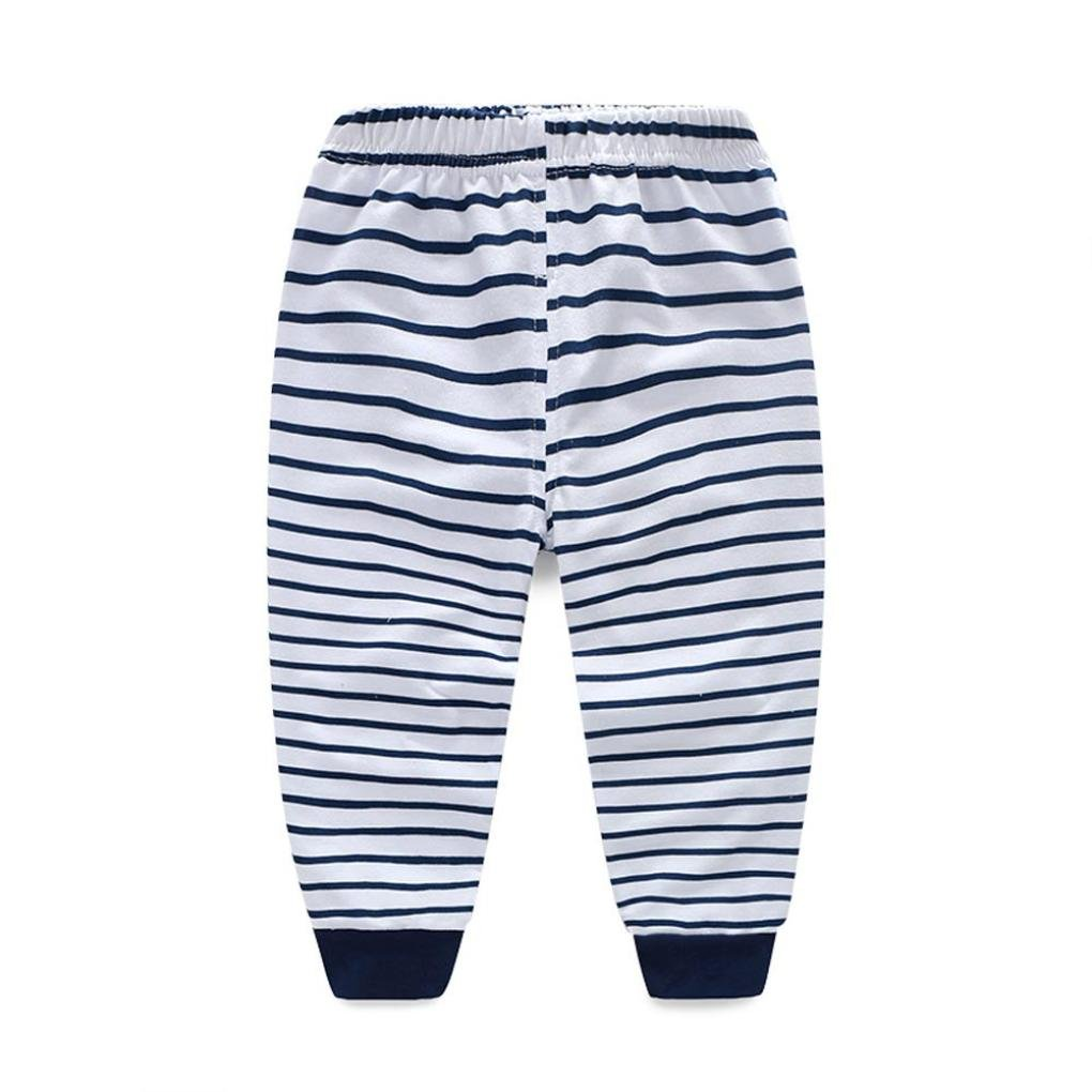 Stripe Long Pants 1Set Baby Boys Outfit Clothes Printing T-Shirt Tops Clode for 1-4 Years Old boy