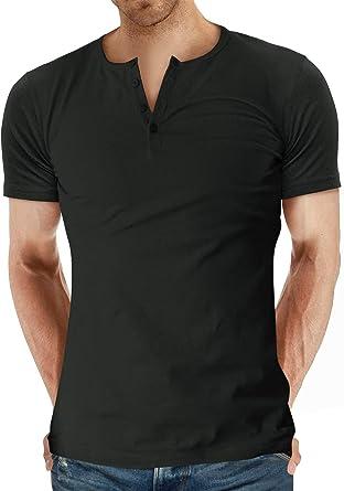 AIYINO Camiseta básica de manga corta para hombre de manga corta