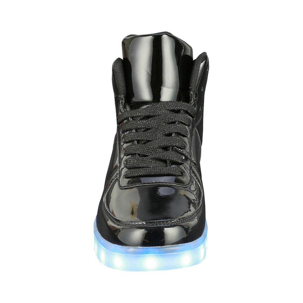 Coshare Womens Fashion USB Charging LED Light Up Rave Flashing Sneakers