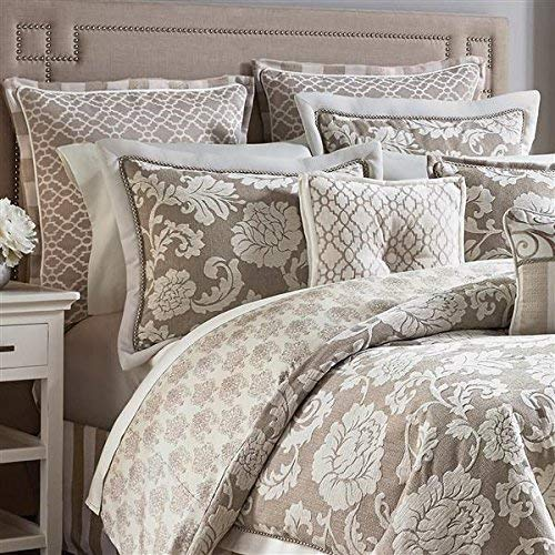 - Croscill Anessa Latte Queen Comforter Set, Beige Tan Taupe 6 Pieces Set